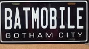 BATMOBILE - Batman - License plate