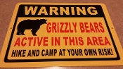 Grizzly Bear - Warning Sign - With Image