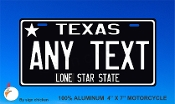 Texas -  State License Plate -  CUSTOMIZE THIS PLATE!