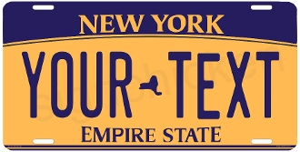 New York State License Plate -  CUSTOMIZE THIS PLATE!