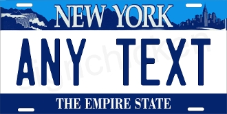 New York Falls Liberty License Plate -  CUSTOMIZE THIS PLATE!