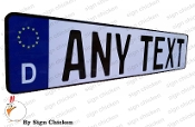 Euro License Plate / Blue Flag Box