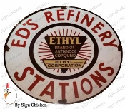 Ed's Refinary Garage Sign