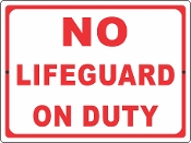 No Life Guard on Duty