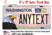 Washington Eagle - License Plate