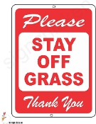STAY OFF GRASS