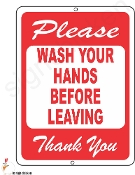 WASH YOUR HANDS BEFORE LEAVING