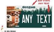 SMOKEY THE BEAR License Plate