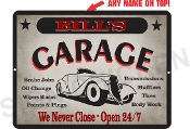 GARAGE SIGN - CUSTOM, ANY NAME