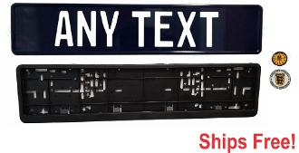NAVY BLUE -  Euro License Plate Set