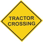 Tractor Crossing  -Text Only Design