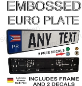 Puerto Rico Euro License Plate Set